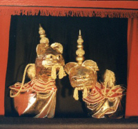 The dancing Thai Lions in the Ramakien