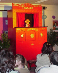 The Dancing Bear Puppet Theater at the Oneida Library, 04/05/01 - Performing is Mrs. Pageturner the librarian
